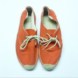 Soludos Derby Canvas Lace Up Espadrille Flats